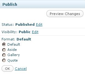 wordpress 3.1 - -post-formats